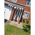 Holly made her own bunting and decorated her house