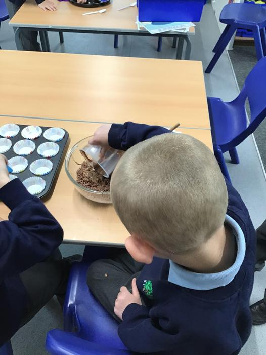 We used Fairtrade chocolate to make some cakes.