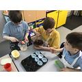 We enjoyed baking chocolate muffins