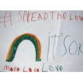 We designed our own posters, to #spreadthelove