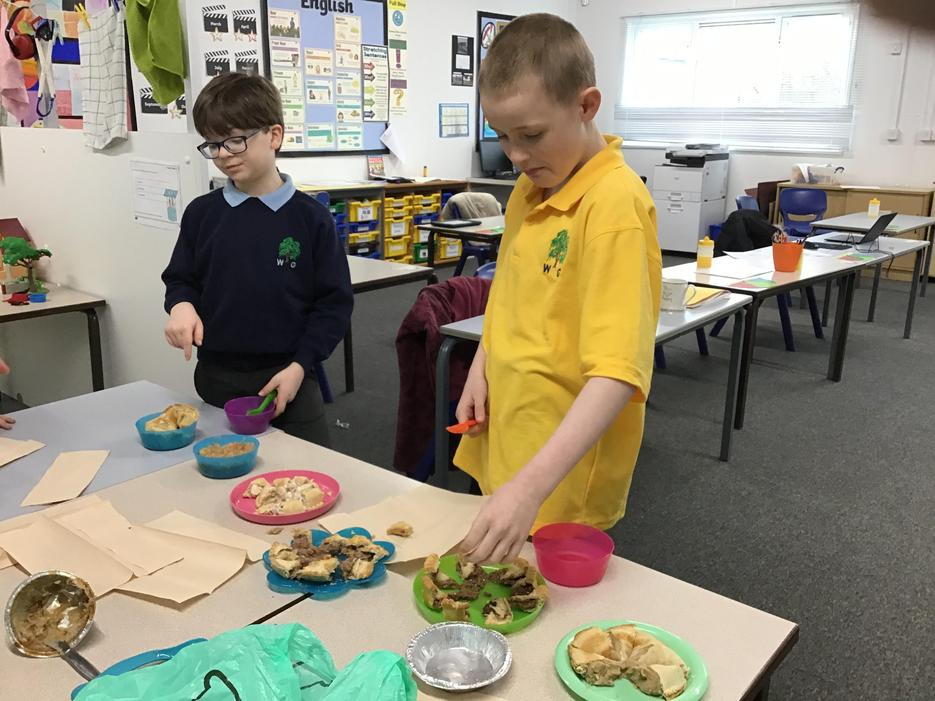 As part of our project we tasted different pies!