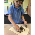 We made an Octopus using clay.