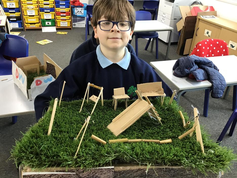 We made a model of Haigh hall