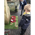 Reading the Rememberance Day wreaths