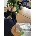 In Class 5 we discussed how Easter is celebrated. We made decorations and decorated our own Easter Tree!