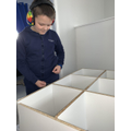 Building a storage unit, with help from Mum