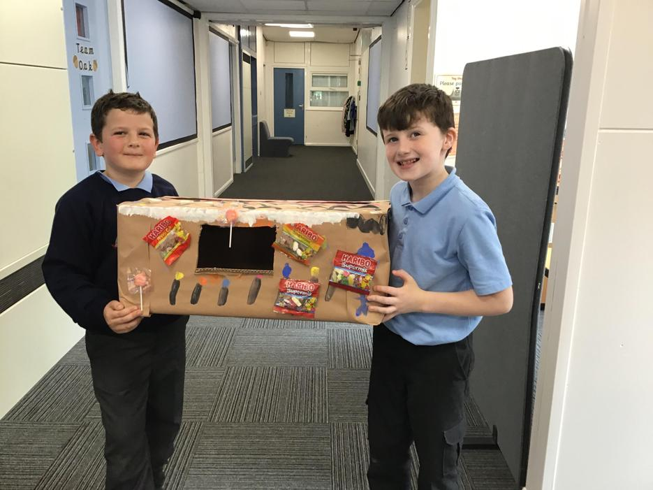 Jad and Charlie's amazing gingerbread house. the boys worked brilliantly together.