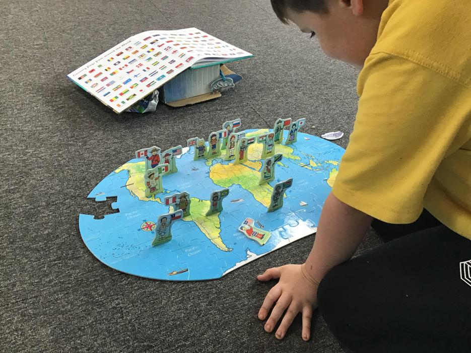 Locating the rainforests on our puzzle
