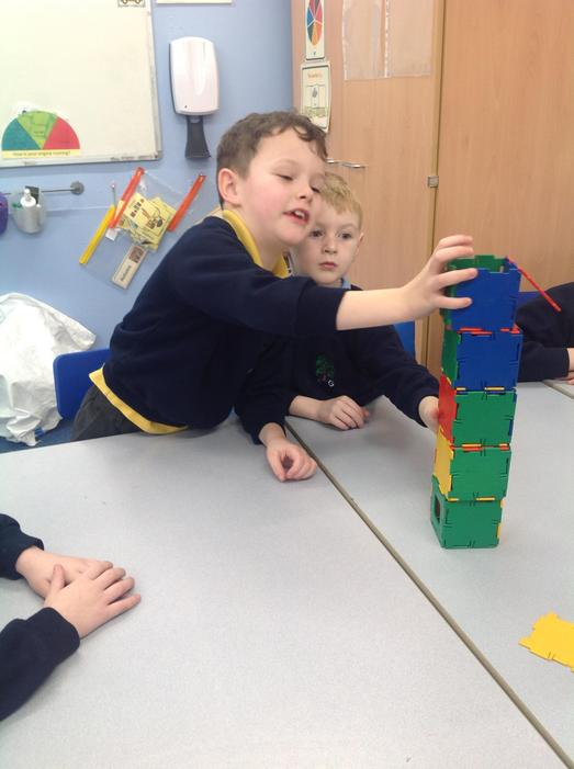 We made 3D cubes with Polydrons.