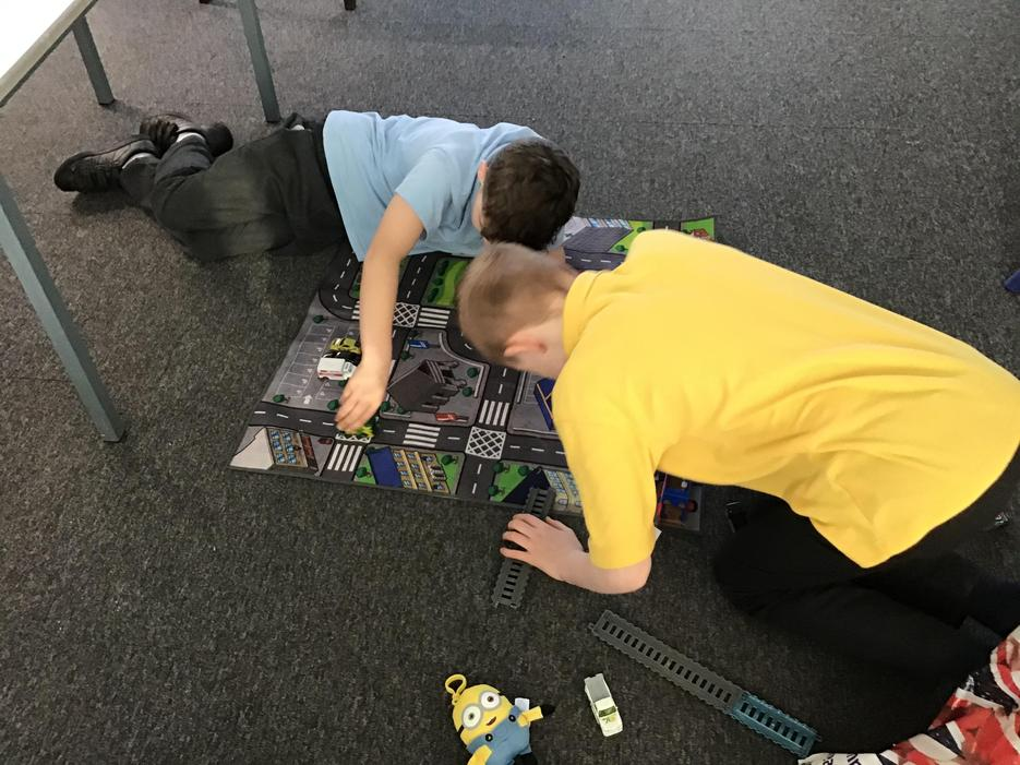 Playing cars
