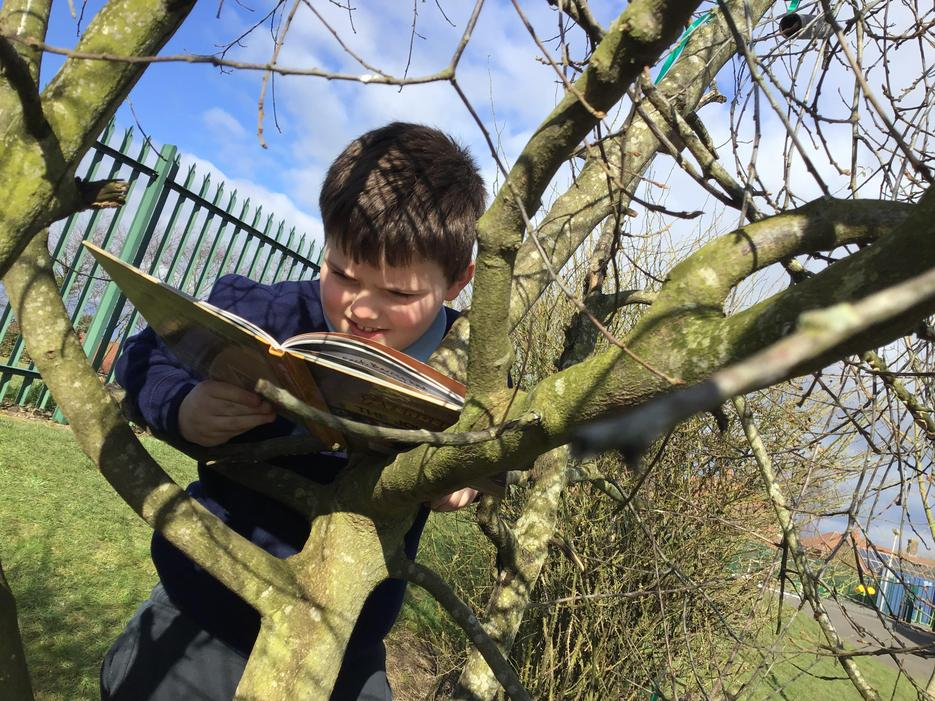 We were 'caught' reading all over school.
