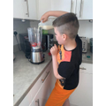 Making strawberry smoothies