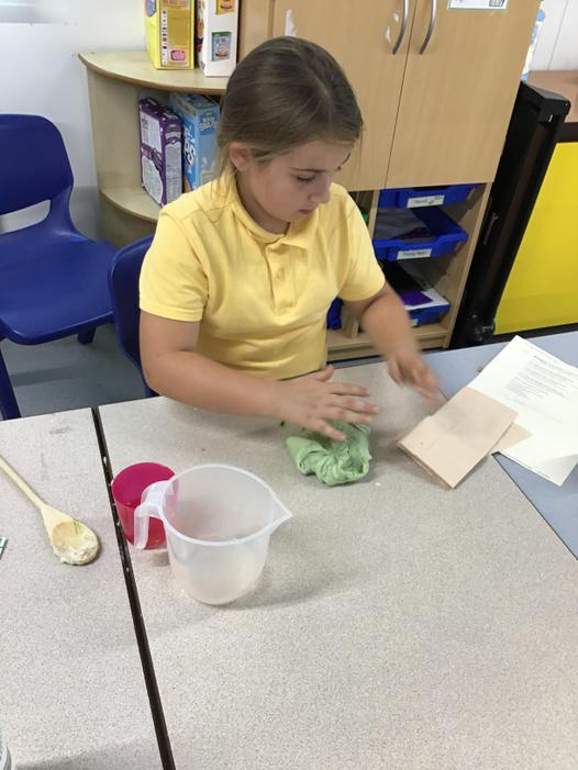We all enjoyed making our own playdough