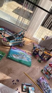 Mrs Sullivan enjoying Lego