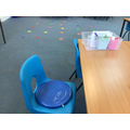 Wobble cushions are available for children who need support
