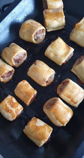 Homemade sausage rolls from Miss Gibbs' baking afternoon – they tasted delicious.