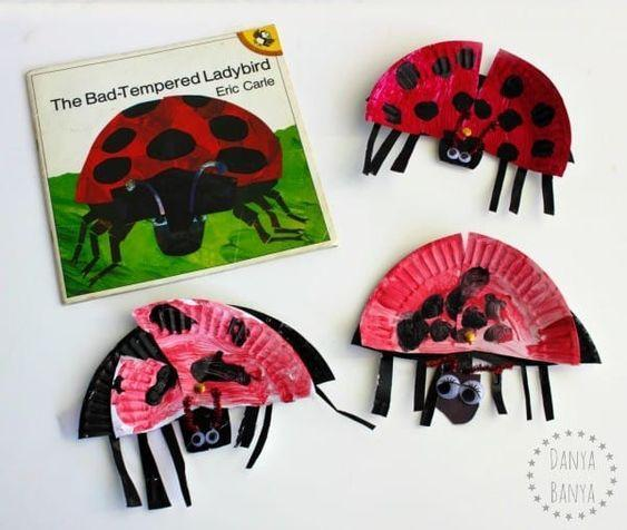 Make your own ladybug using a paper plate