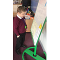 We created our own Supertato stories.