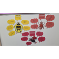 Bobby Bee, Lizzie Ladybird & Sadie Spider; our growth mindset characters on display :)