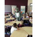 We had a visit from the Big Bad Wolf.