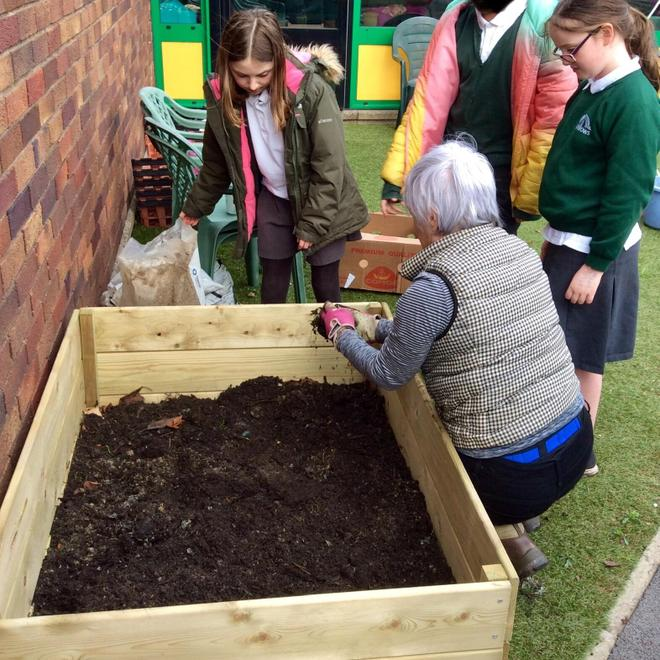 Then the soil and compost