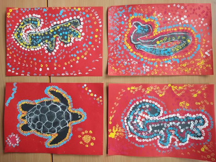 We took inspiration from Aboriginal artist Barbara Merritt.