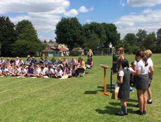 Speeches from Year 6 and Mrs Parker