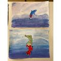 Helena and Eabha's sea creature
