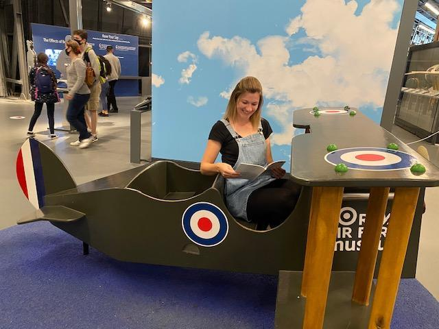 Mrs Bland in a Spitfire!