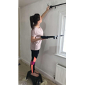 Miss Hinds painting her new room!