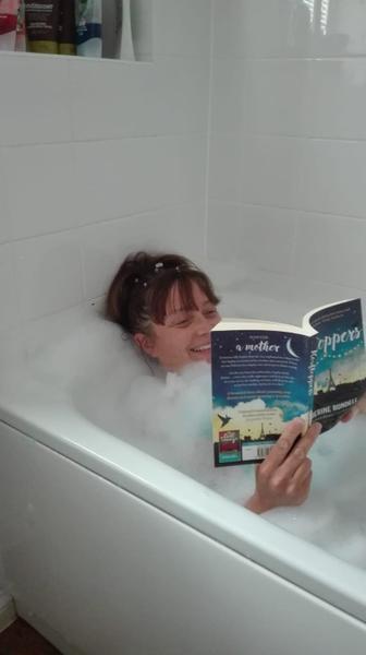 Mrs Hawthorne in her bathtub!