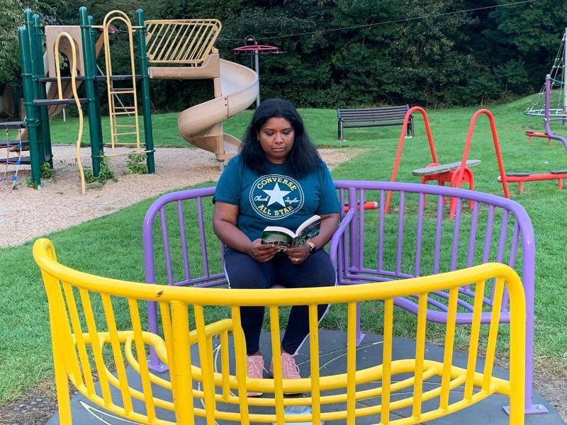 Mrs Kumar in the park!