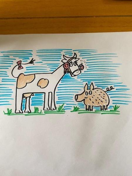 Fine prize cow by Miss Jennings