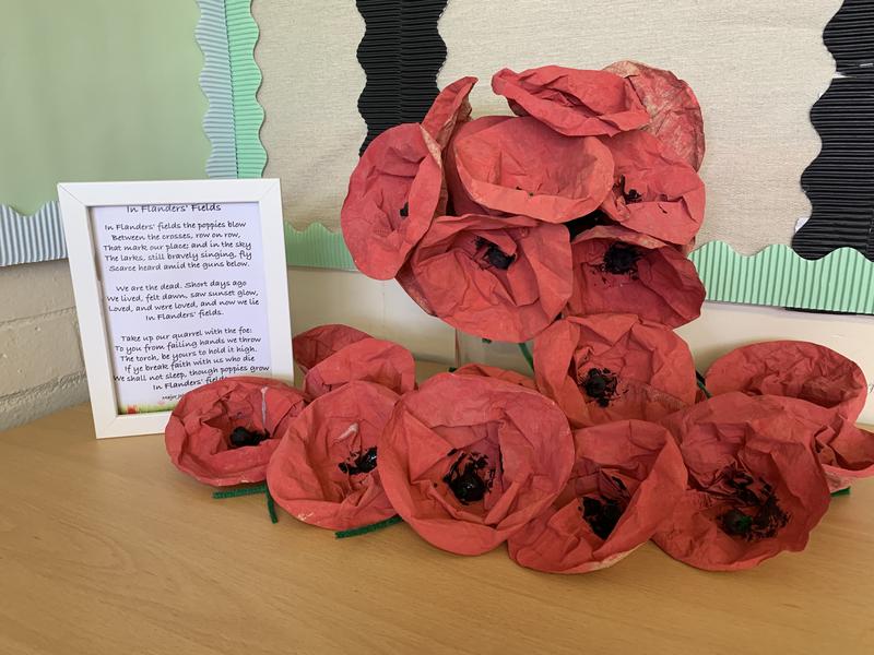 Year 1's Poppy Sculpture