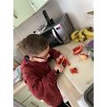William preparing his feast