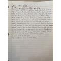 What amazing  writing - I'm so proud!