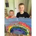Dan has been busy making a rainbow