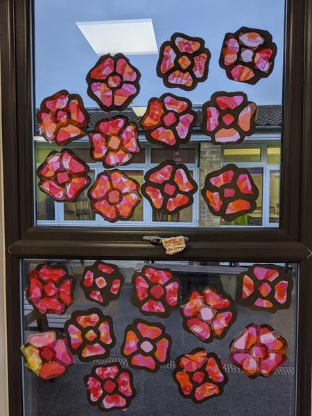 Year 6's Stained Glass Poppies