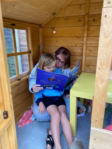 Mrs Bradshaw in the Wendy House!