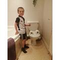 Tom's toilet monster!