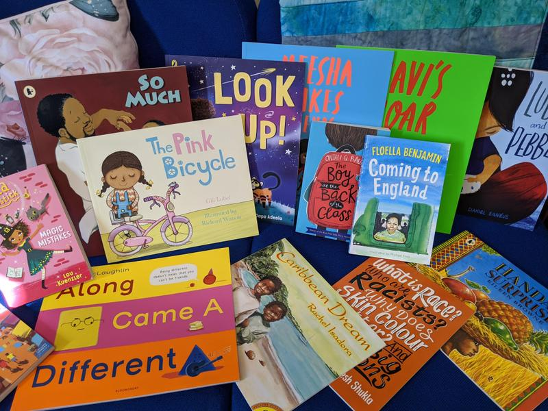 A recent donation of BAME books from our fabulous PTA