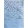 Poppy's beautiful writing!