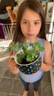 Bella's been growing plants!