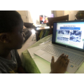 Lamine learning about VE Day