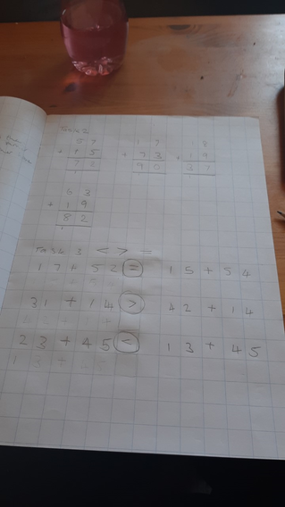 Ruby's maths which is nicely presented.
