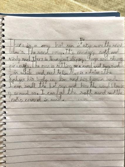 Alex's fantastically presented writing.