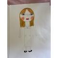 Courtney's self portrait.