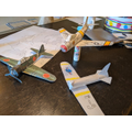Cole and his dad have made 3D planes!