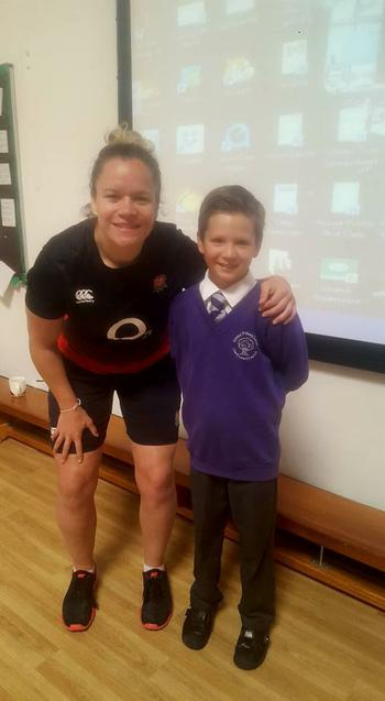 Justine Lucas, England Rugby player came !!