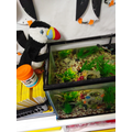 Muffin the Puffin with our Danios.